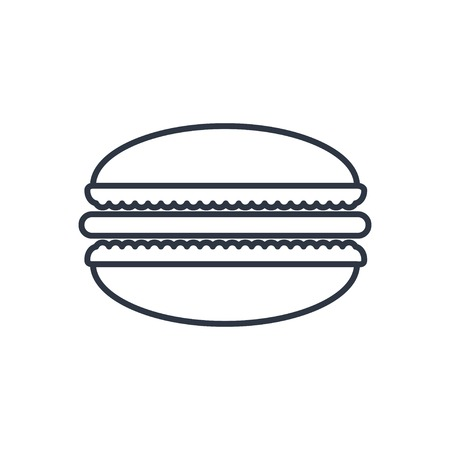 macaroon: Vector macaroon outline icon. Food symbol