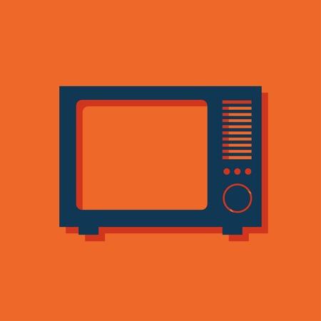tvset: icon of tv Illustration