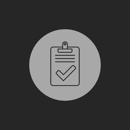 benotung: Quality control related vector icon. Pass