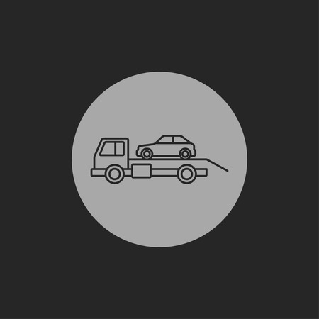 evacuation: Tow icono evacuaci�n coche