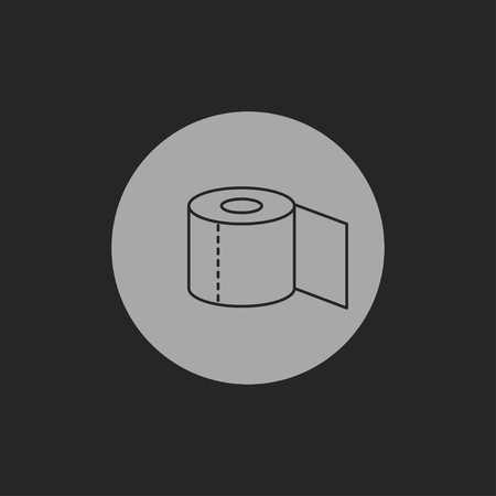 papel de baño: Icono de papel higiénico Vectores