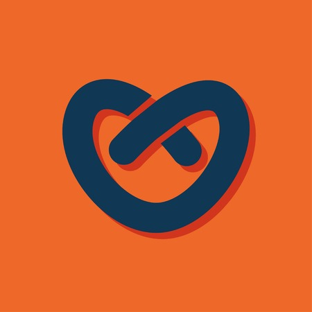 pretzel: Vector pretzel icon. Food icon. Eps10 Illustration