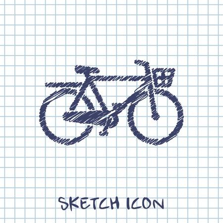 old school bike: City Bicycle icon Illustration