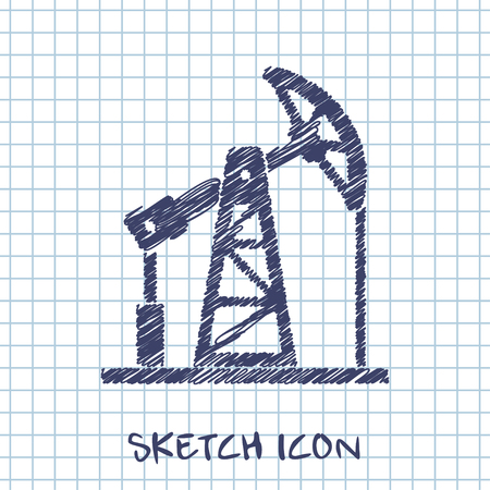 oilfield: oil pump jack icon