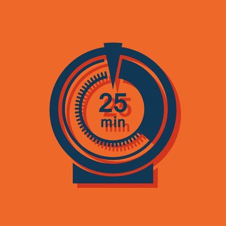 numerical value: kitchen icon of timer Illustration