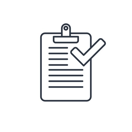 Clipboard with checklist icon
