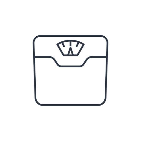 Wektor waga łazienkowa waga ikona