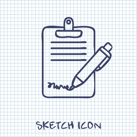 copy writing: Clipboard with sign and pen icon Illustration