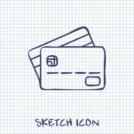 transact: Credit card icon Illustration