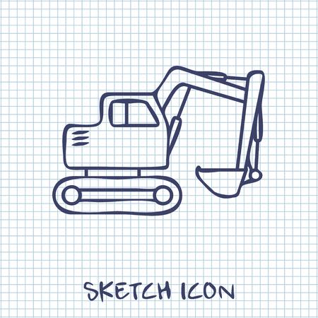 excavating machine: excavator icon