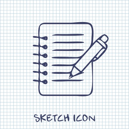 notebook paper: Notebook with pen icon