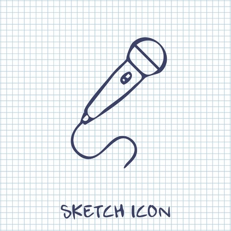 amplify: Microphone icon Illustration