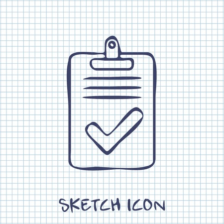 right choice: Quality control related vector icon. Pass