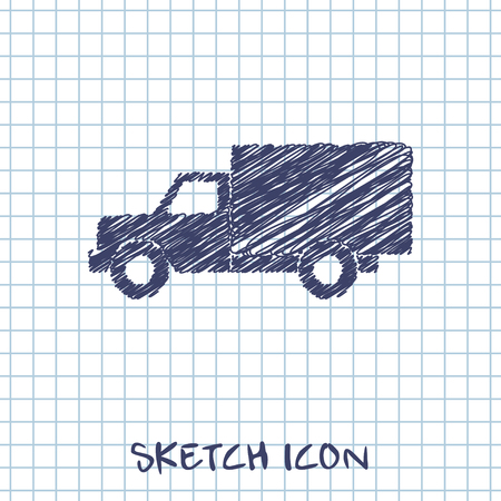 delivering: icon of truck Illustration