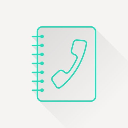 address: address book icon Illustration