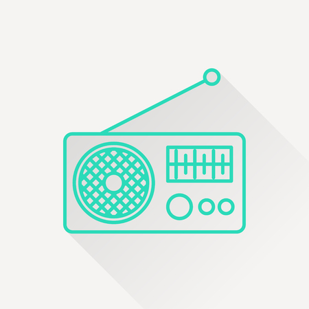 fm radio: Radio icon Illustration
