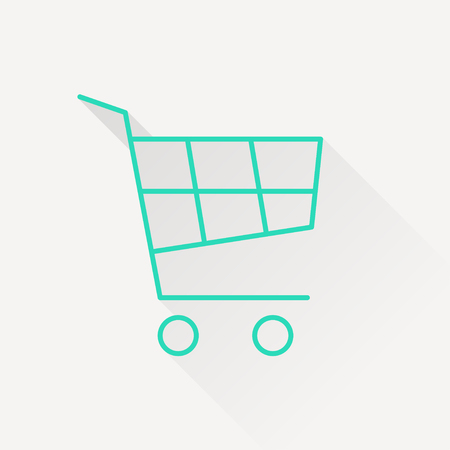 supermarket trolley: shopping cart icon