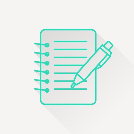 notebook: Notebook with pen icon