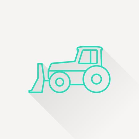power shovel: bulldozer icon