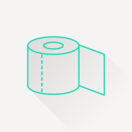 fecal: Toilet paper icon