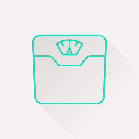 bathroom scale: Vector bathroom weight scale icon