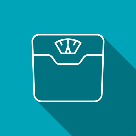 bathroom weight scale: Vector bathroom weight scale icon
