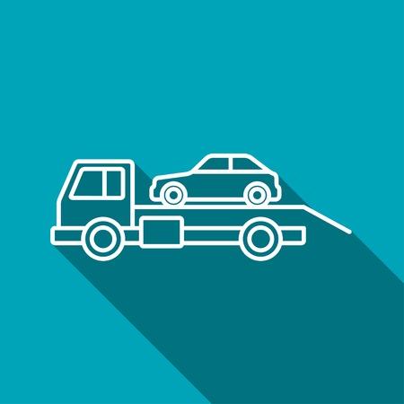 evacuacion: Tow icono evacuación coche