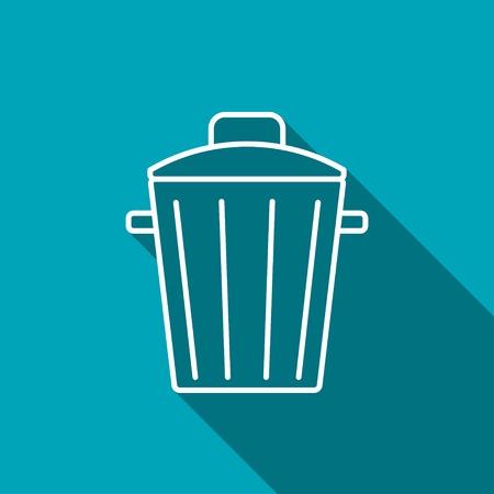 sewage: Trash can icon