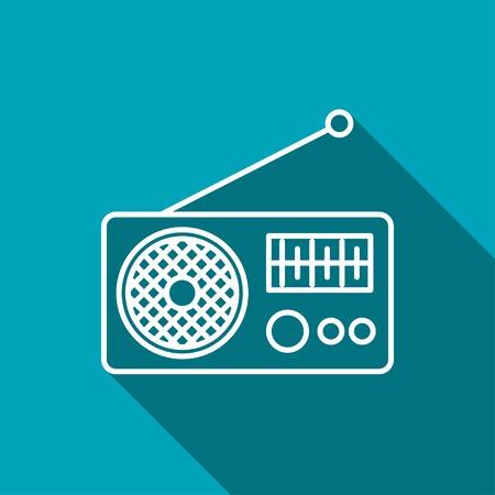 old radio: Radio icon Illustration