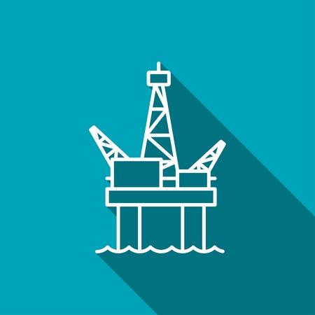 exploration: Oil platform icon Illustration