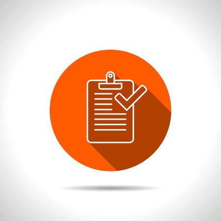 checklist: Clipboard with checklist icon
