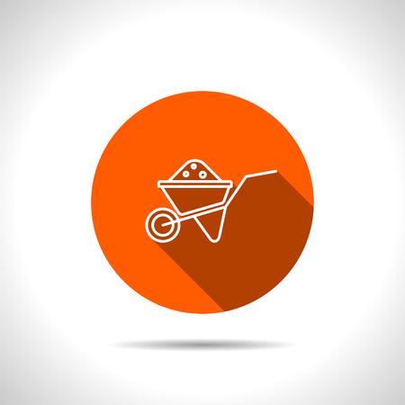Simple icon wheelbarrow