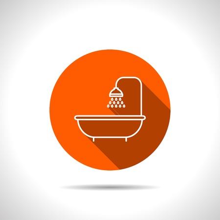showering: shower icon. Bathroom symbol