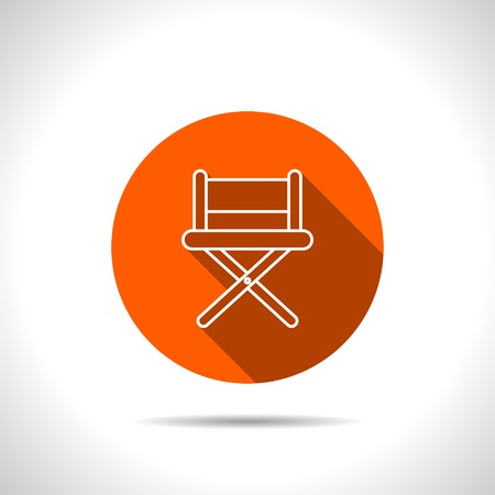 director chair: vector illustration of cinema director chair icon Illustration