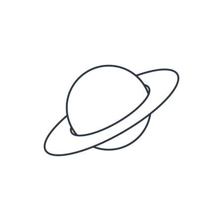 saturn planet: saturn planet outline icon