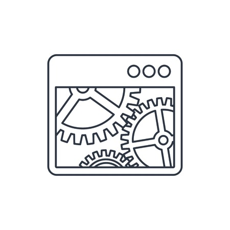operating system: Vector icon of options window Illustration