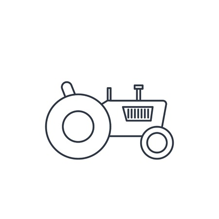 agriculture icon: Tractor web icon, vector illustration