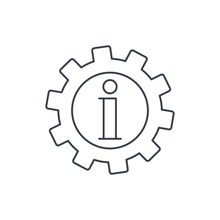 information icon: Technical information web icon, vector illustration Illustration