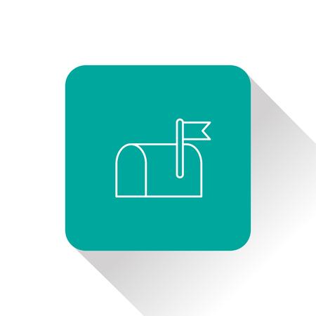 telegrama: Caja por icono Vectores