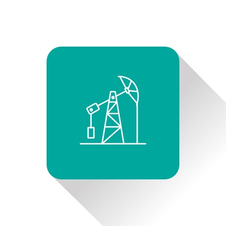 chemical spill: oil pump jack icon