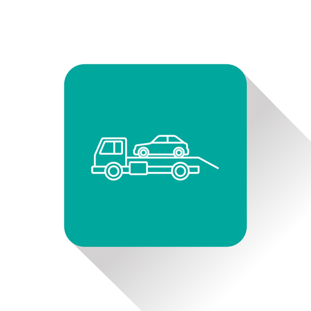 evakuierung: Tow car evacuation icon Illustration