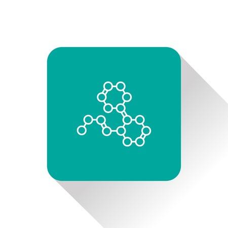BIOLOGIA: fórmula química del icono del vector Vectores