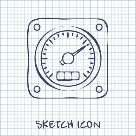 gauge: sketch icon of gauge