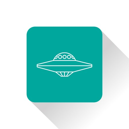 saucer: UFO Flying Saucer Icon