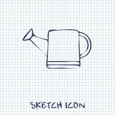 bailer: Watering can sketch icon