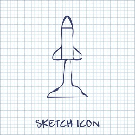 execute: Starting rocket sketch icon