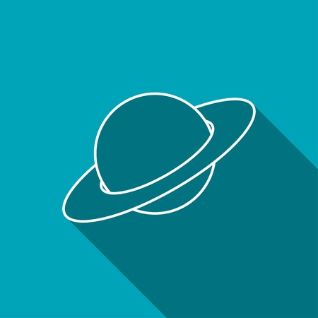 saturn: saturn planet silhouette icon