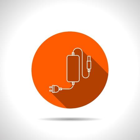 장 전기: Icon of Phone Charger, vector illustration