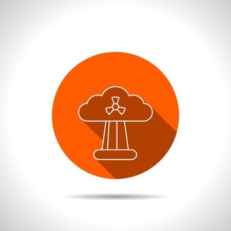 hydrogen bomb: Mushroom cloud, nuclear explosion, silhouette, vector Illustration