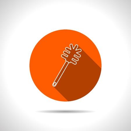 toilet brush: toilet brush vector icon